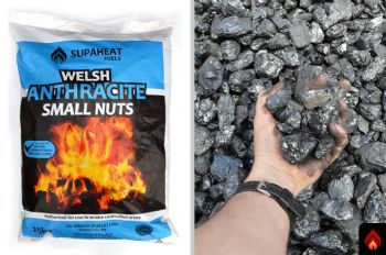 Welsh Anthracite Small Nuts - 1/2 tonne (BLACK DIAMOND)